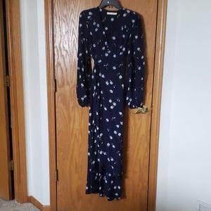 CHRISTY DAWN Blue Rose Dress L